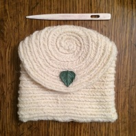 Finnish Stitch 3+3 pouch from Imperial Tracie Too sport weight yarn.