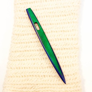 Color Striped Birch Nalbinding Needle by Shy Red Fox